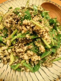 Ground Sesame Seeds and Arugula Rice Salad Picture courtesy of Asami Tanaka